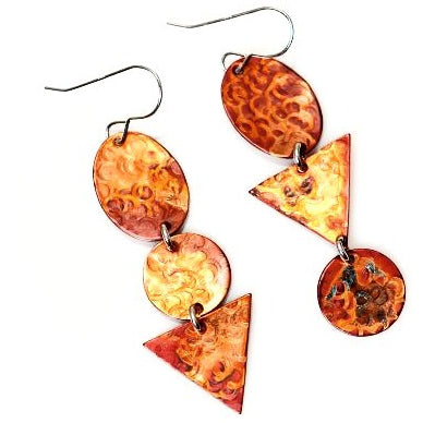 COPPER MIX UP EARRINGS