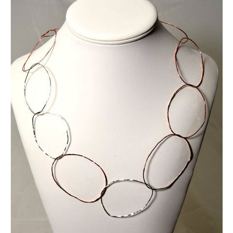 COPPER & SILVER LINX NECKLACE - Side Street Studio