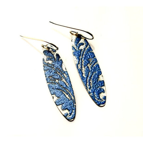 STERLING SILVER AND ENAMEL EARRINGS - Side Street Studio