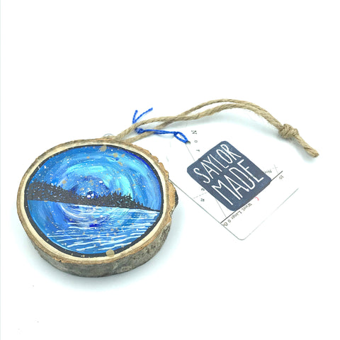 Hand-painted West Coast Wooden Ornament