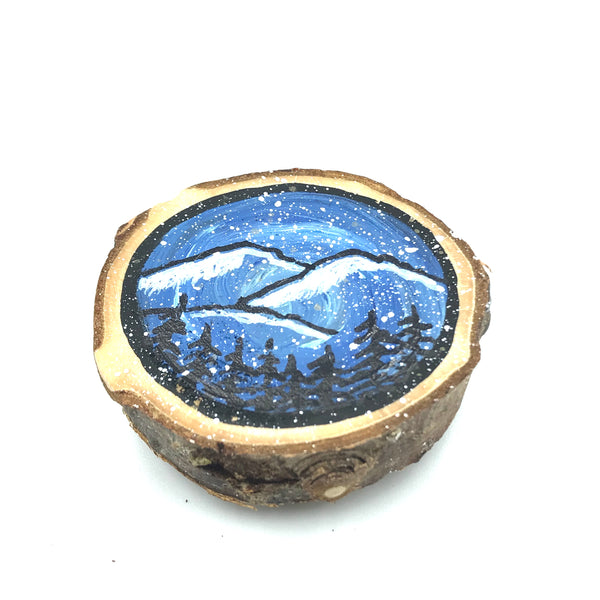 Hand-painted West Coast Wooden Magnet