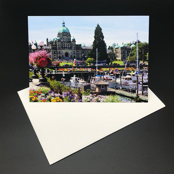 Victoria Inner Harbour Greeting Card Landscape