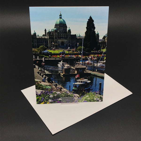 Victoria Inner Harbour Greeting Card Portrait