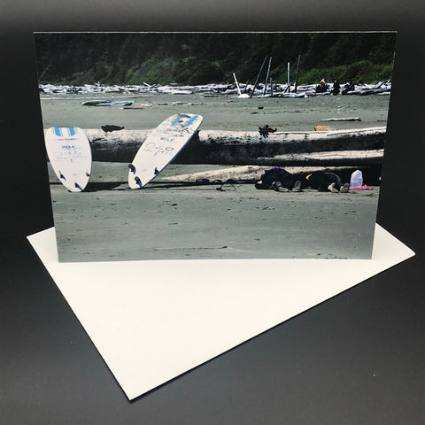 Just Done Tofino Surfers Greeting Card