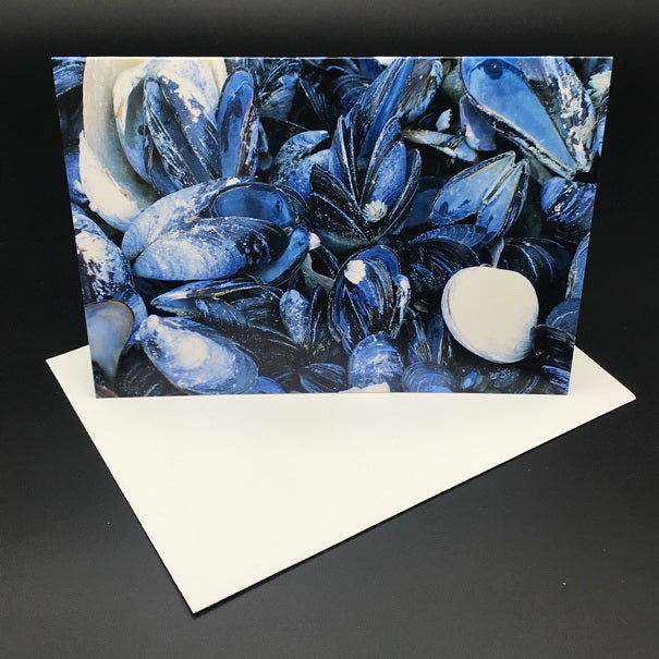 Blue Mussel Greeting Card