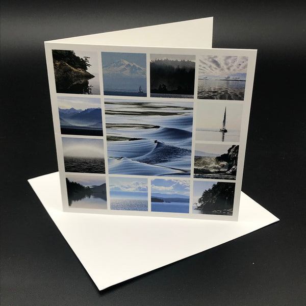 West Coast Blue Greeting Card