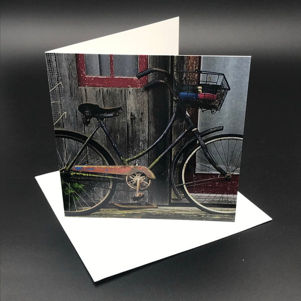 Old Bikes lll Greeting Card