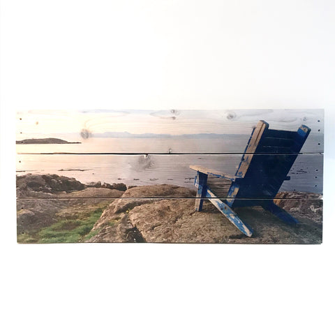Photography on Reclaimed Pallets Wood - Looking Out to Sea