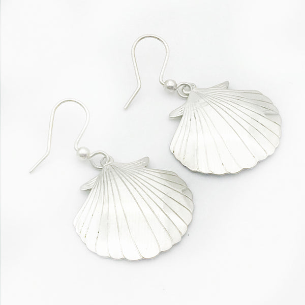 Sterling Silver Scallop Earrings