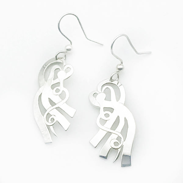 Sterling Silver Small Kelp Earrings