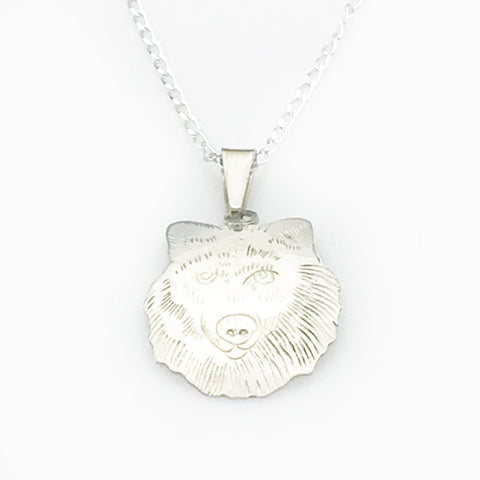 Sterling Silver Wolf Pendant Necklace