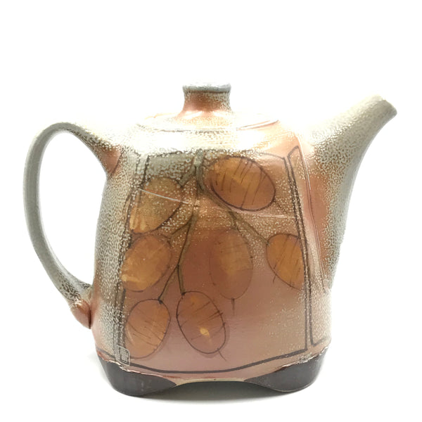 SALT FIRED MONEY TREE TEAPOT - MEDIUM