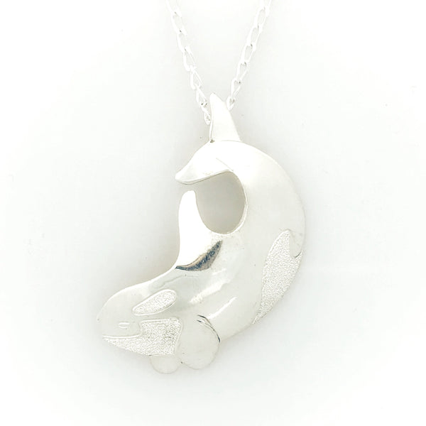 Sterling Silver Orca Pendant