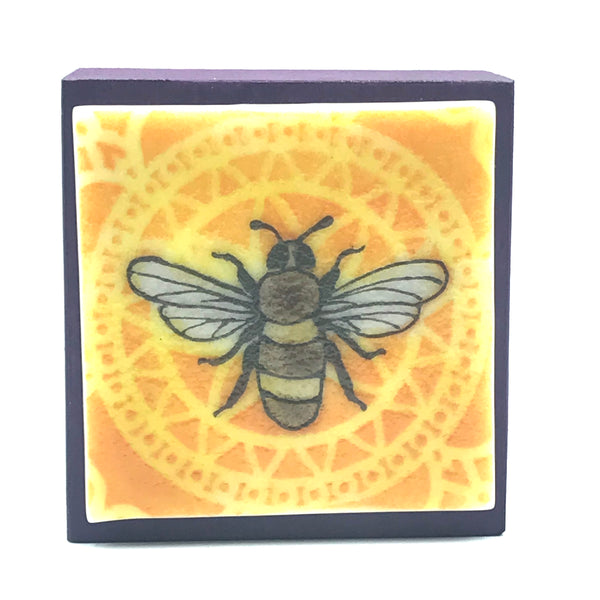 Fused Glass Art Bee