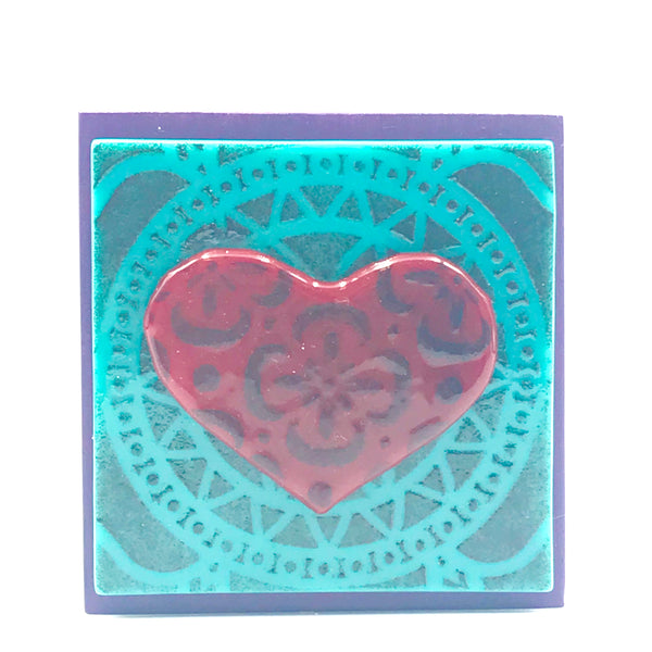 Fused Glass Art Heart