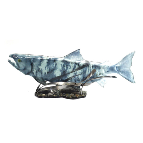 Female Chum Salmon Glass Sculpture