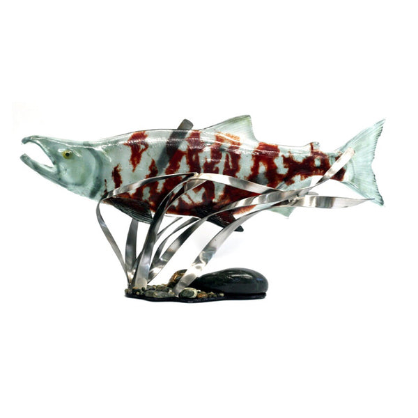 Male Chum Salmon Glass Sculpture