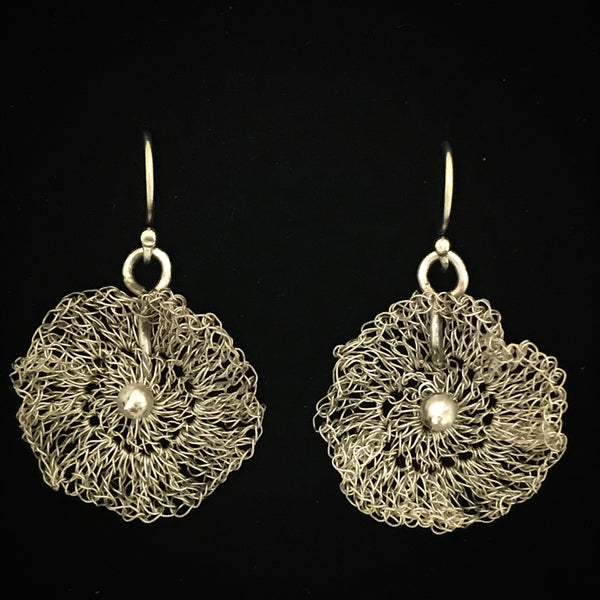 Flora Eco Silver Lace Earrings