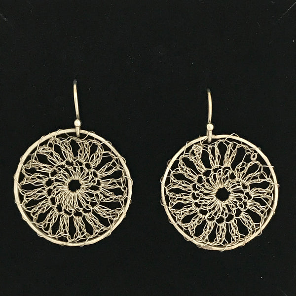 Shine Eco Silver Lace Earrings