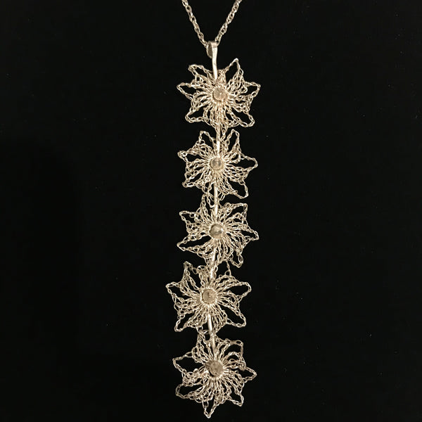 Stardrop Eco Silver Lace Pendant