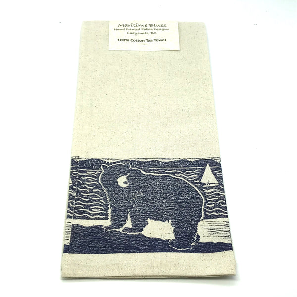 Tea Towel with Spirit Bear Print Design