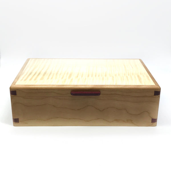 Bubinga and Eastern Maple Small Jewlery Box