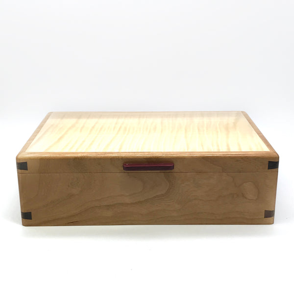 Walnut and Eastern Maple Small Jewlery Box