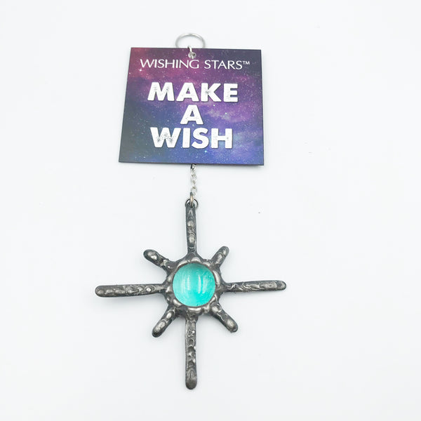 Wishing Star with Teal Stone