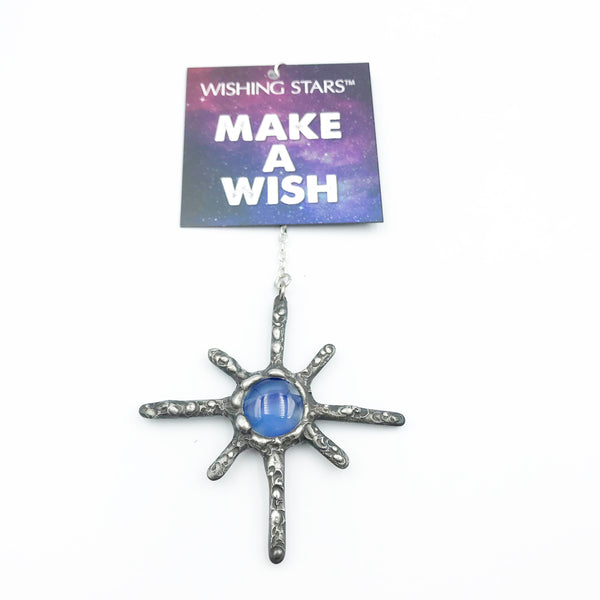 Wishing Star with Marble Blue Stone