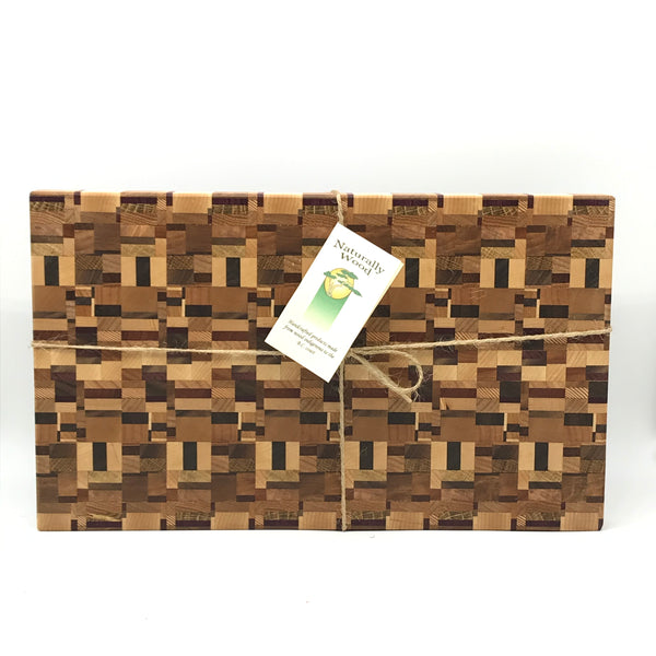 Wooden End Grain Cutting Board, Medium