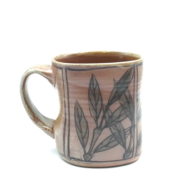 Salt Fired Leaves Espresso Mug