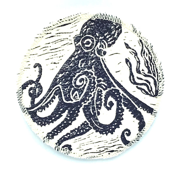 Coasters with Blue Octopus Print Design