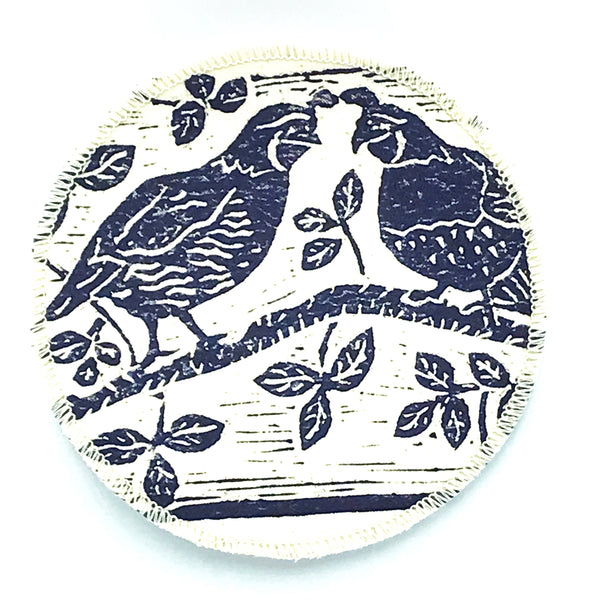 Coasters with Quail Print Design
