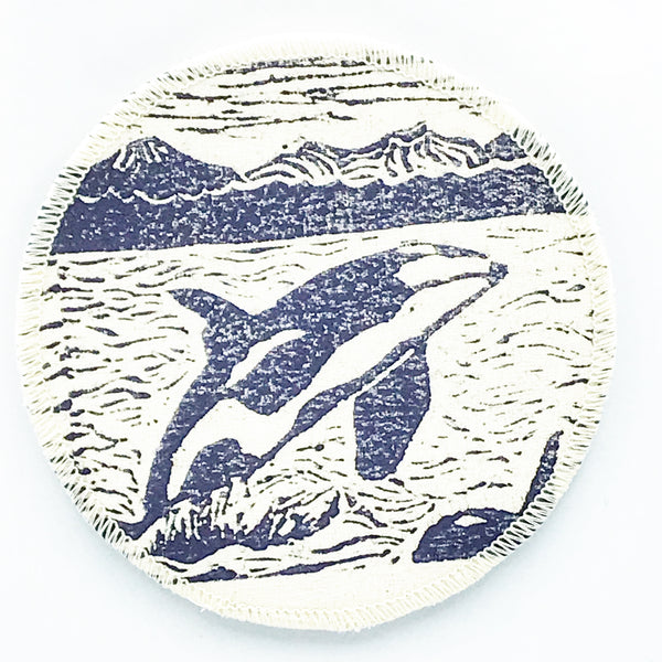 Coasters with Jumping Orca Print Design