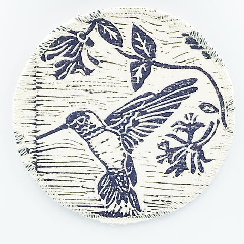 Coasters with Hummingbird Print Design
