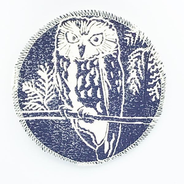 Coasters with Owl Print Design