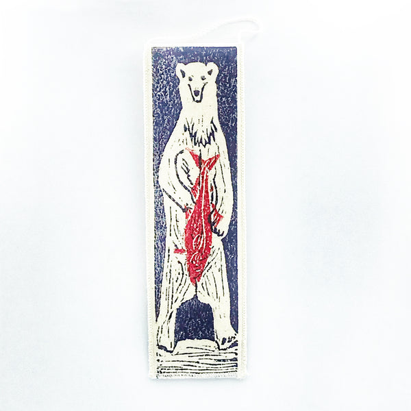 Bookmark with Spirit Bear Print Design
