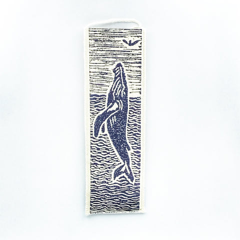 Bookmark with Humpback Whale Print Design