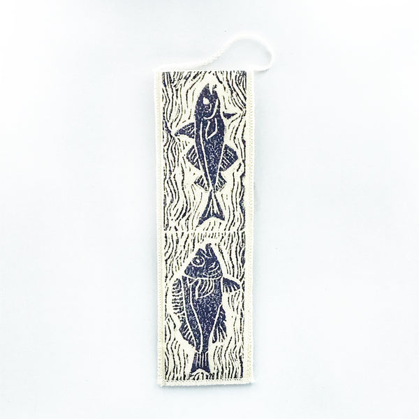 Bookmark with Fish Print Design