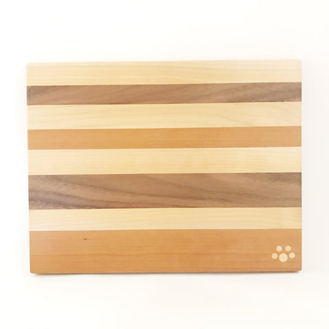Small Chopping Board, Maple, Cherry and Walnut 11 3/4 x 9 inches