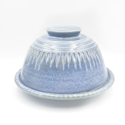 Powell River Blue Glaze Dome Butter Dish