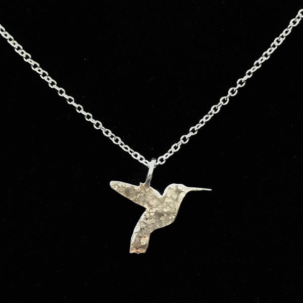 Sterling Silver with hummingbird pendant necklace