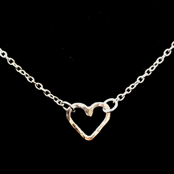 Sterling Silver with a mini heart pendant necklace 16""