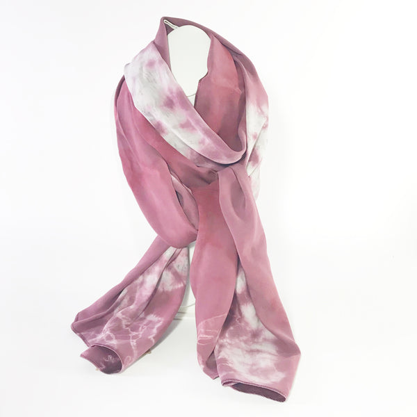 Botanical Dye with Madder Hand Dye Rose Silk Scarf