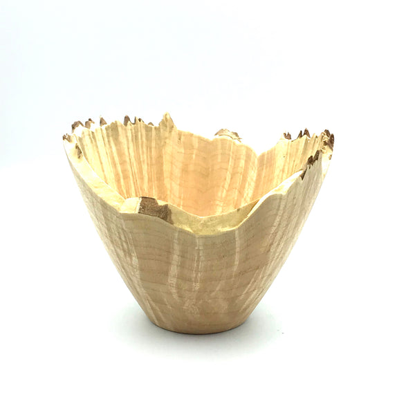 Maple Small Bowl with Live-Edge Rim