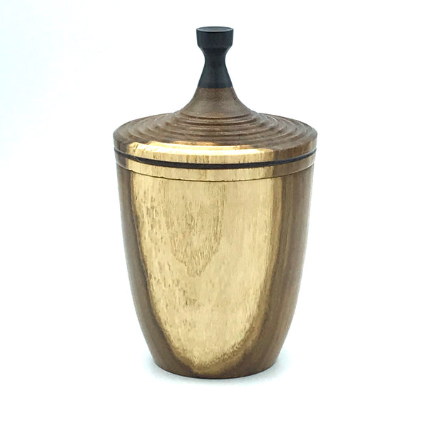 Large Lidded Vessel, Laburnum and Ebony Handle