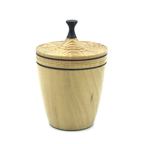 Large Lidded Vessel,  Black Locust and Ebony Handle