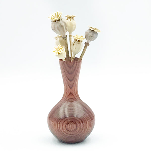 Mini Dyed Laminated Birch Wood Vase, Natural Stain Color