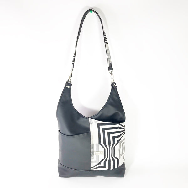 Black and White Pattern Vegan Purse