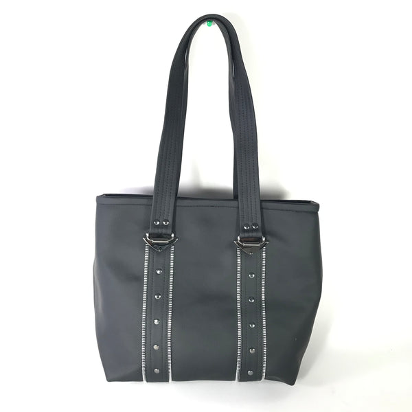Black Zippered Vegan Purse